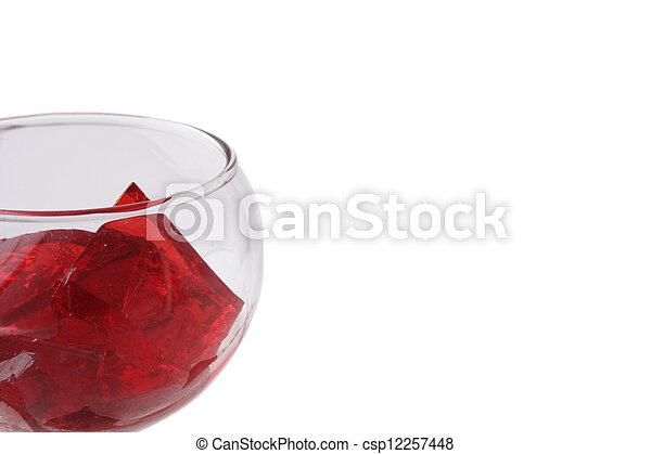 Red Gelatin in a Glass - csp12257448