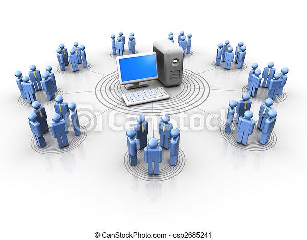 La cadena de la gente - csp2685241
