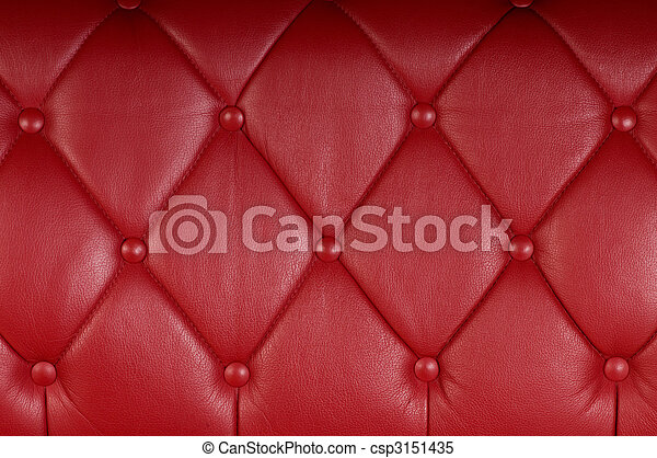 red genuine leather upholstery texture background - csp3151435