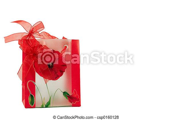 Red gift bag - csp0160128