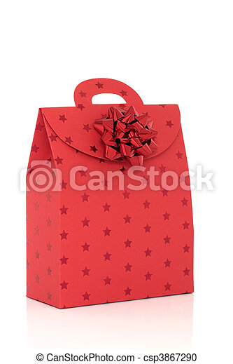 Red Gift Bag with Bow - csp3867290
