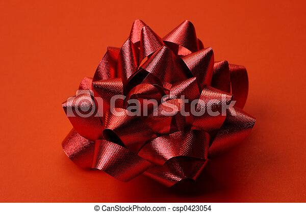 Red Gift Bow - csp0423054