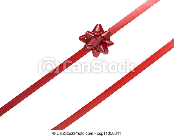 red gift bow - csp11056841