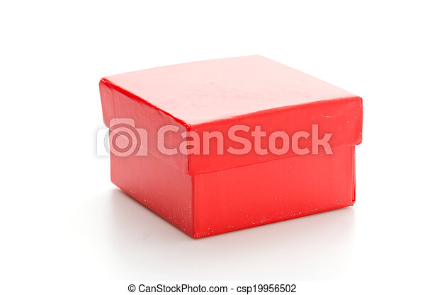 Red giftbox - csp19956502