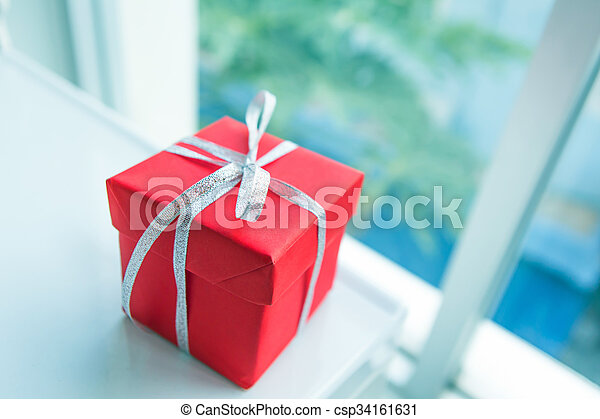 Red giftbox - csp34161631