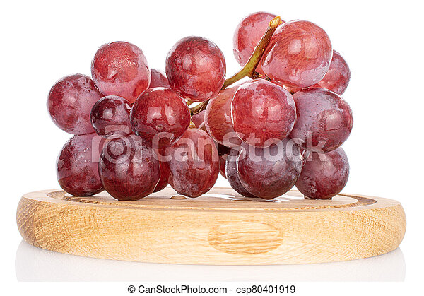Red globe grape on white - csp80401919