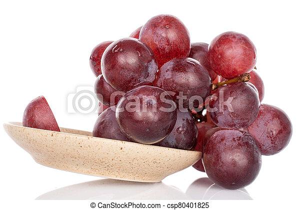 Red globe grape on white - csp80401825