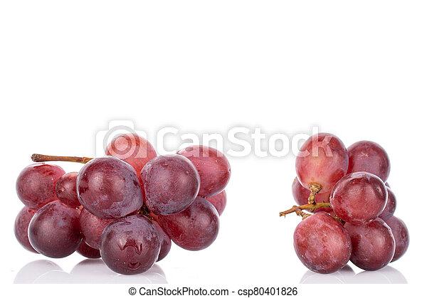 Red globe grape on white - csp80401826