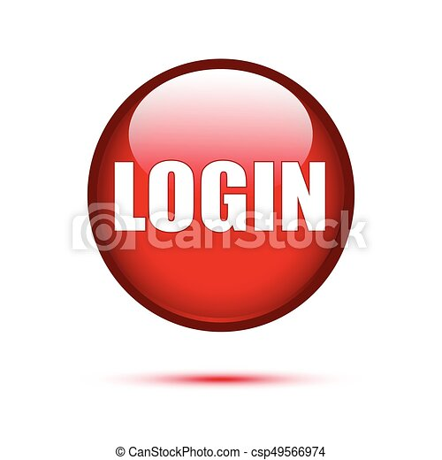 Red glossy login button on white - csp49566974