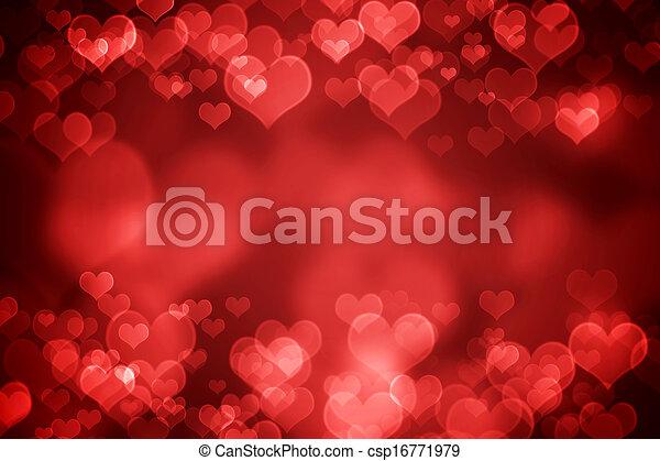 Red glowing Valentine's day background - csp16771979
