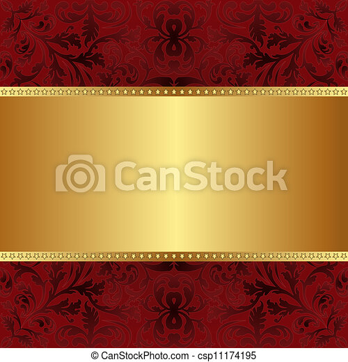red gold background - csp11174195