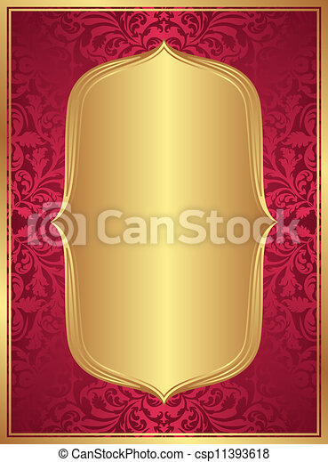 red gold background - csp11393618