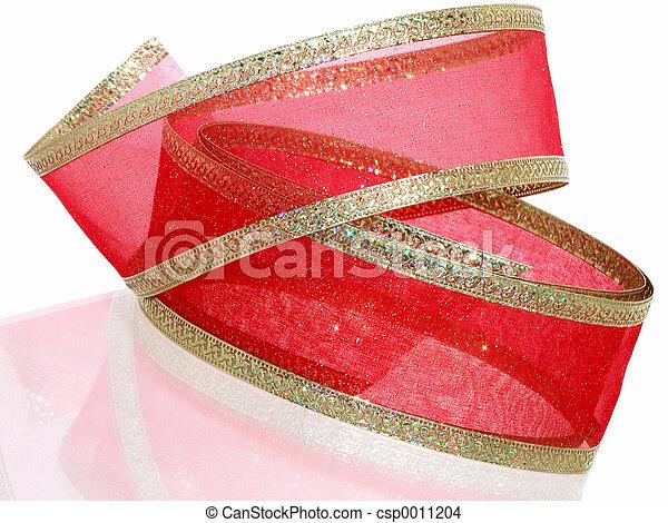 Red & Gold Ribbon - csp0011204