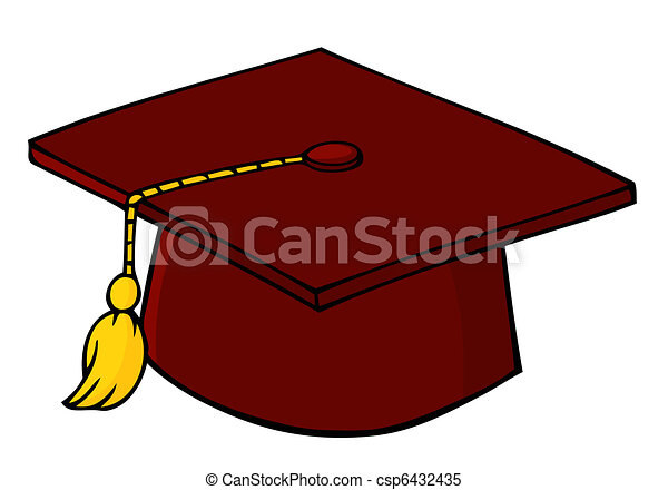 red graduation cap and tassel clipart vector search illustration rh canstockphoto com