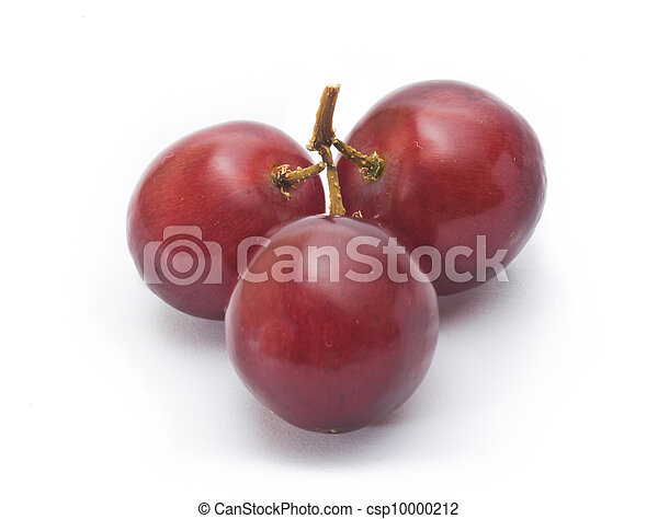 red grape isolated on white - csp10000212