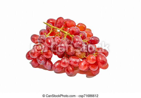 Red grape isolated on white - csp71686612