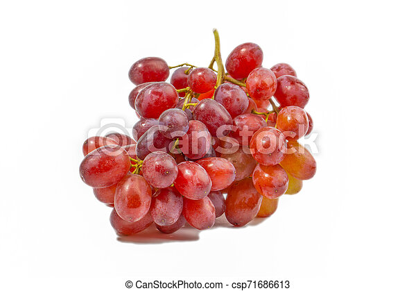 Red grape isolated on white - csp71686613