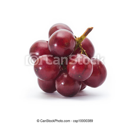 red grape isolated on white - csp10000389