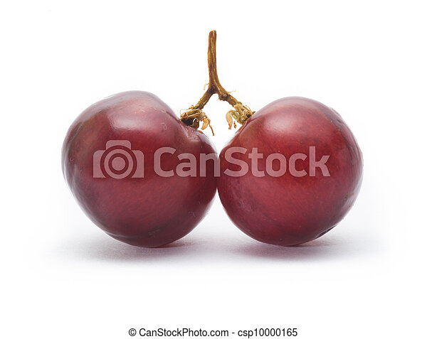 red grape isolated on white - csp10000165