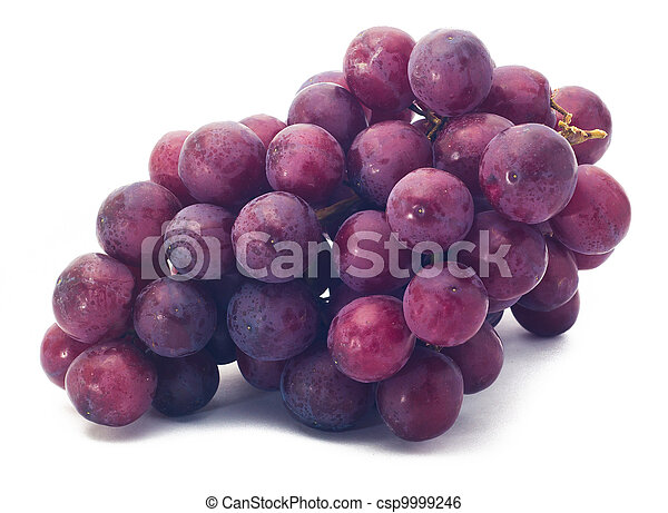 red grape isolated on white - csp9999246