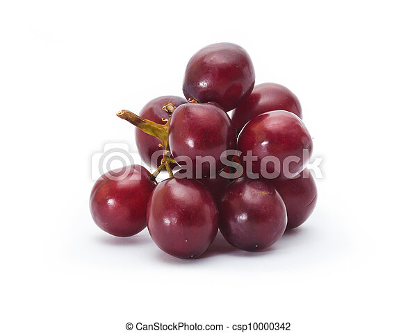 red grape isolated on white - csp10000342
