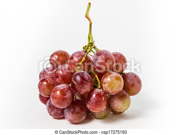 red grape isolated on white  - csp17275193