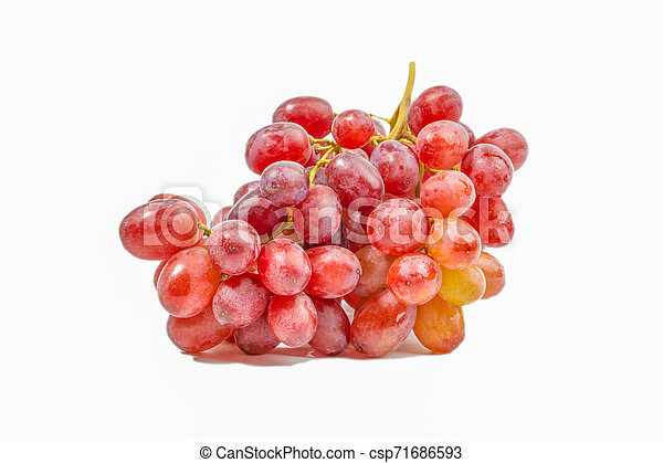 Red grape isolated on white - csp71686593