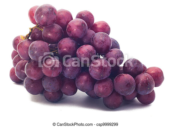 red grape isolated on white - csp9999299