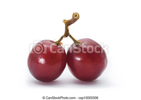 red grape isolated on white - csp10000306