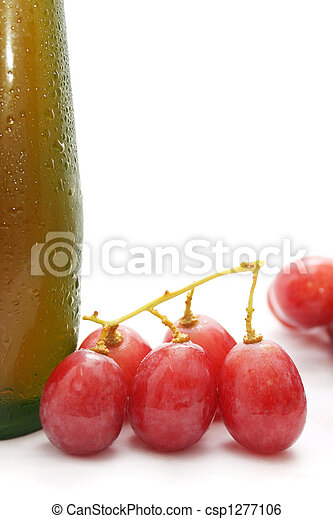 Red Grapes And Wine - csp1277106