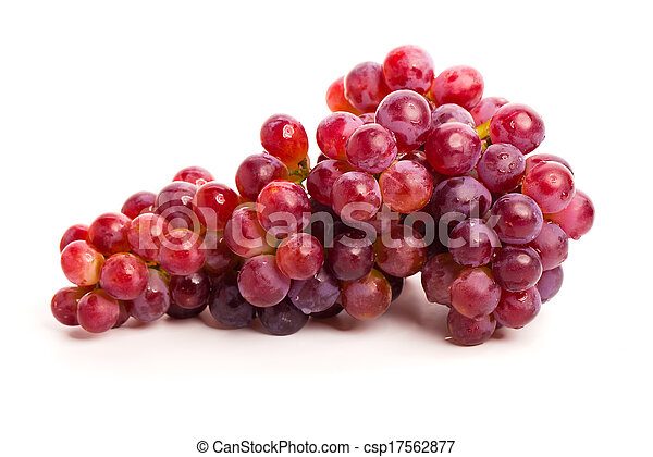 red grapes isolated on white - csp17562877