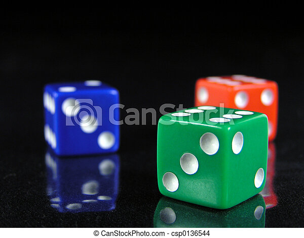 red, green, and blue dice 2 - csp0136544