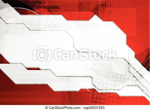 Line Drawing Vector Graphics : Red grey tech corporate background. vector graphic design