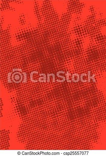 Red Grunge Background - csp25557077