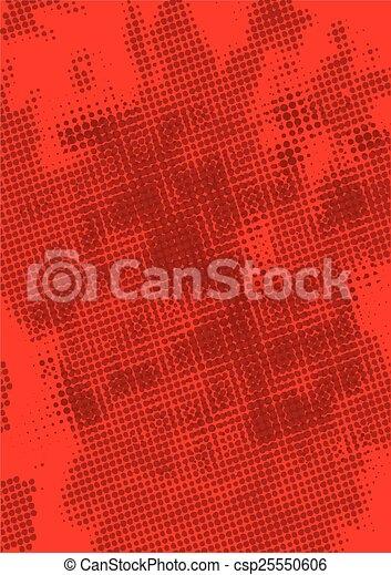 Red Grunge Background - csp25550606