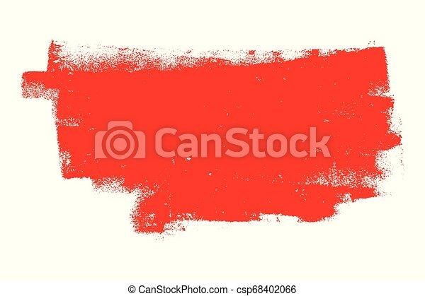 Red Grunge Banner - csp68402066