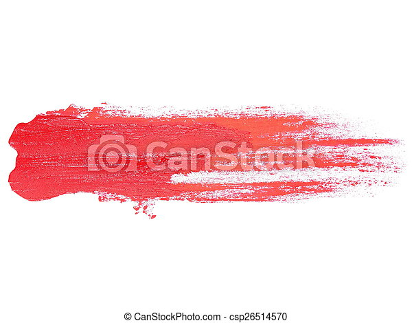 red grunge brush strokes oil paint - csp26514570