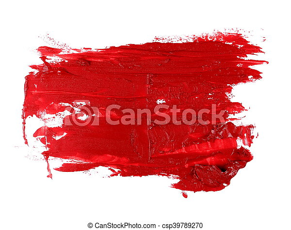red grunge brush strokes oil paint - csp39789270