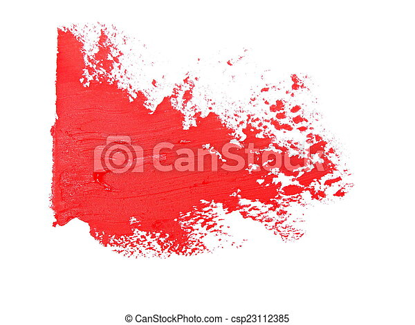 red grunge brush strokes oil paint  - csp23112385