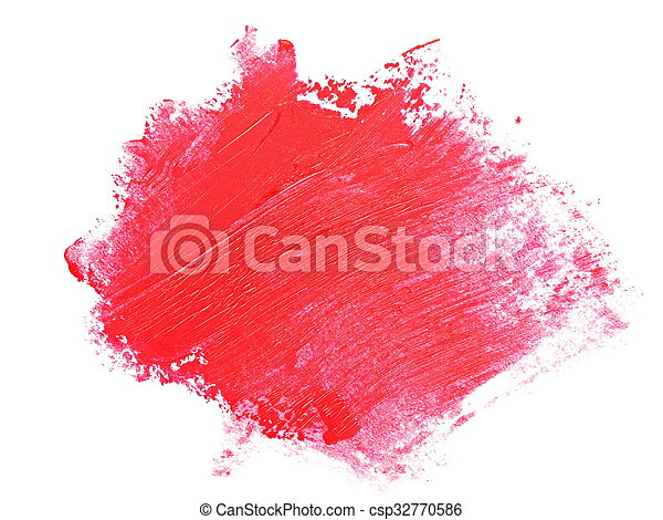 red grunge brush strokes oil paint  - csp32770586