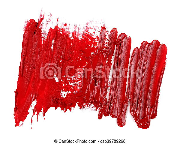 red grunge brush strokes oil paint - csp39789268