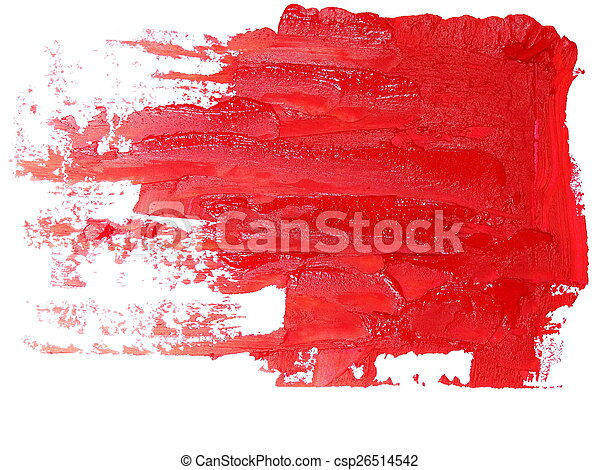 red grunge brush strokes oil paint - csp26514542