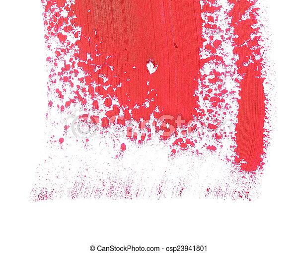 red grunge brush strokes oil paint  - csp23941801