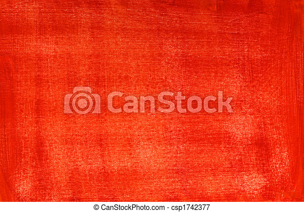 red grunge painted and scratched abstract background - csp1742377