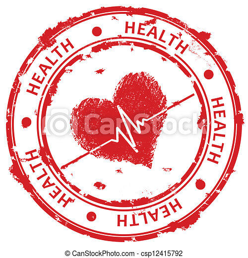 Red grunge stamp - csp12415792