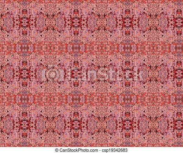 Red grunge vintage pattern wallpaper background - csp19342683