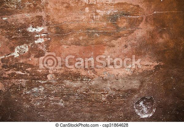 red grunge wall - csp31864628