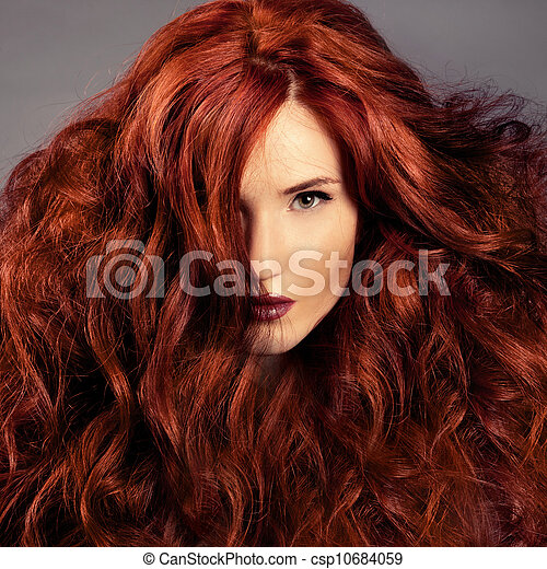 Red Hair. Fashion Girl Portrait  - csp10684059