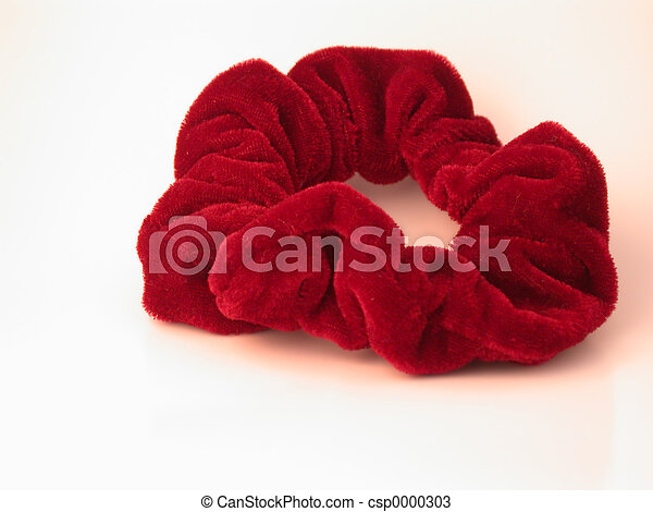 Red Hair Scrunchy - csp0000303