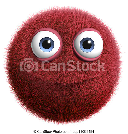 red hairy ball - csp11098484